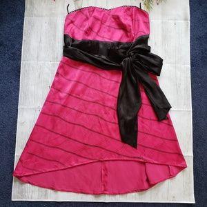 Torrid Party Dress Strapless High-Lo hem Size 14
